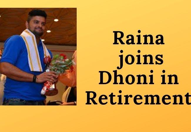 Suresh Raina news- retirement from International cricket